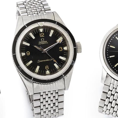 Omega. A stainless steel automatic bracelet watch