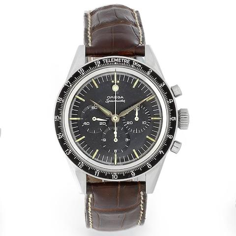 Omega. A stainless steel manual wind chronograph wristwatch