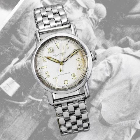 Rolex. A stainless steel automatic bubble back bracelet watch with California dial