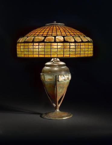 Turtleback Tile Table Lamp