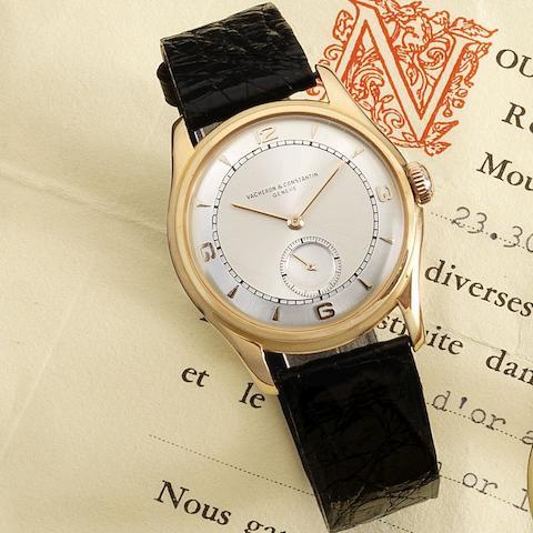 Vacheron & Constantin. An 18K gold manual wind wristwatch