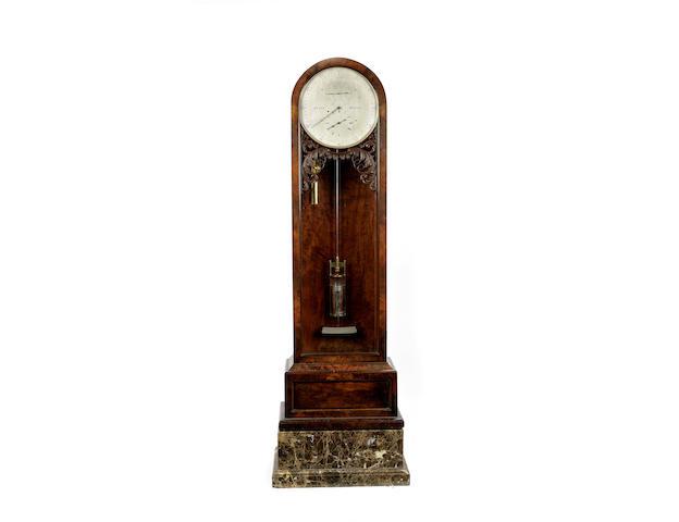 A 19th century mahogany floorstanding regulator