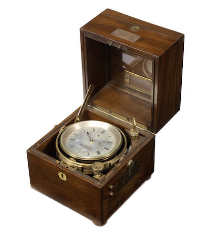 A good early 20th century two day marine chronometer with Kullberg's auxiliary compensation