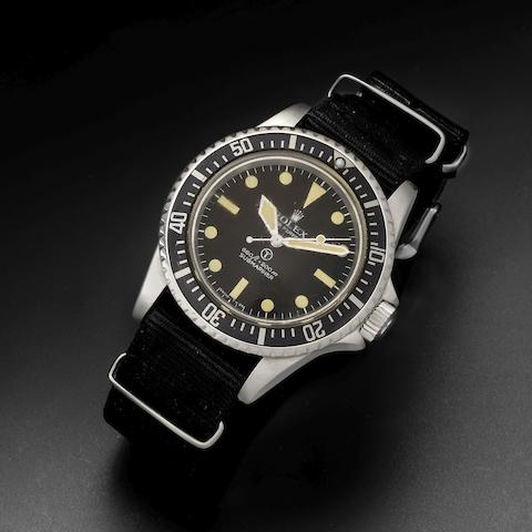 Rolex. A rare stainless steel automatic military issue wristwatch