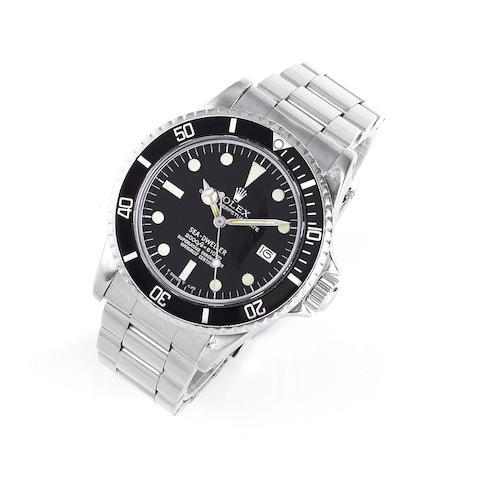Rolex. A stainless steel automatic calendar bracelet watch