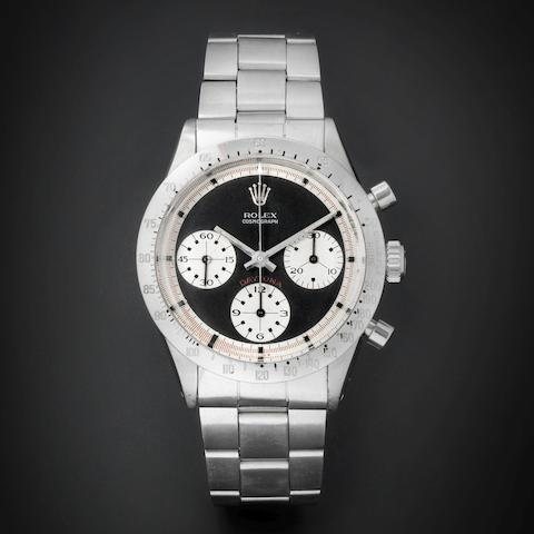 Rolex. A fine and rare stainless steel chronograph bracelet watch