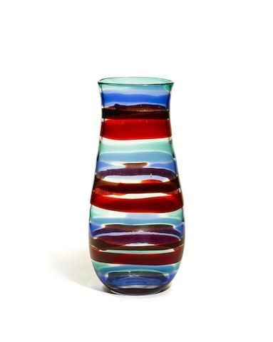 Rare Monumental Fasce Orizzontali vase