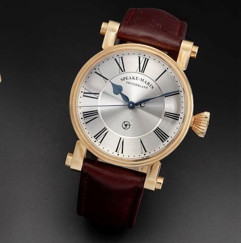 Speake-Marin. An 18K rose gold manual wind wristwatch