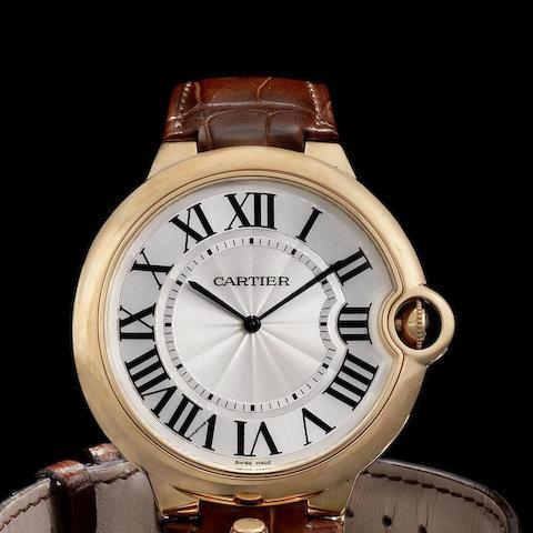 Cartier. An 18K rose gold manual wind wristwatch