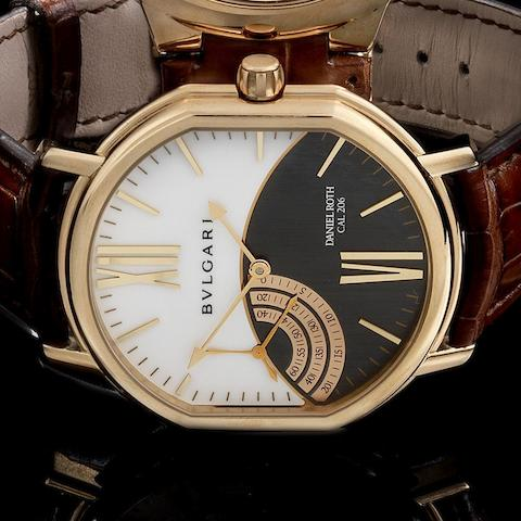 Daniel Roth for Bulgari. An 18K rose gold manual wind wristwatch with unusual constant seconds