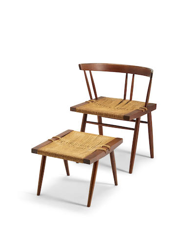 Grass Seated Chair and Ottoman