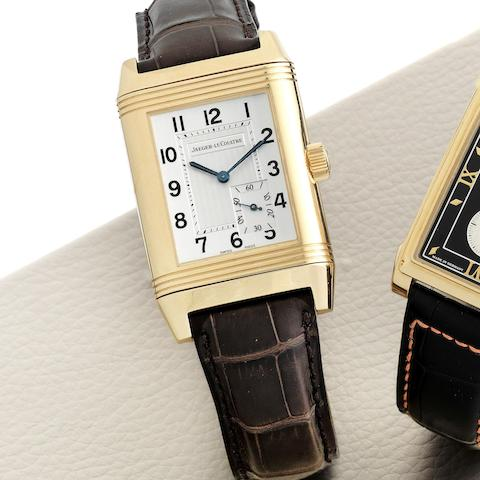 An 18K rose gold manual wind reversible wristwatch with 8-day power reserve