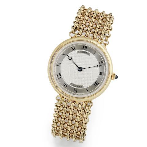 Breguet. An 18K gold manual wind bracelet watch