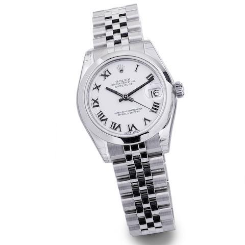 Rolex. A mid-size stainless steel automtic calendar bracelet watch