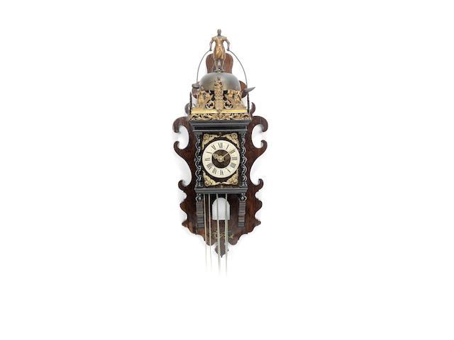 An early 18th century Zaandam wall clock with jaquemart