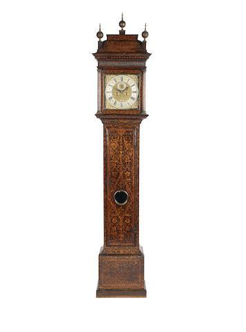 An impressive late 17th century arabesque seaweed marquetry longcase clock