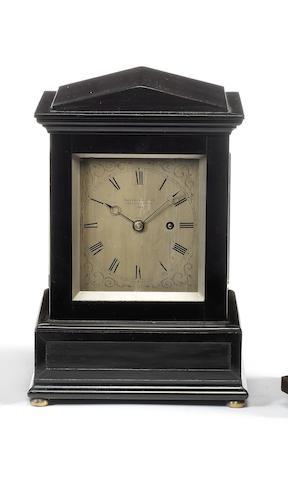 A mid 19th century ebonised mantel timepiece