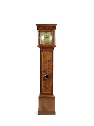 A late 17th century walnut longcase clock of one month duration