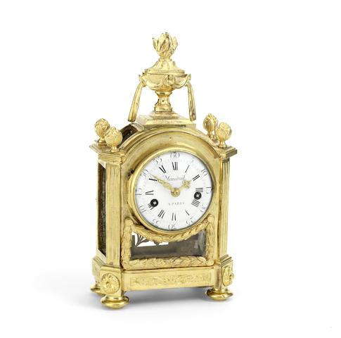 A fine late 18th century French ormolu mantel clock