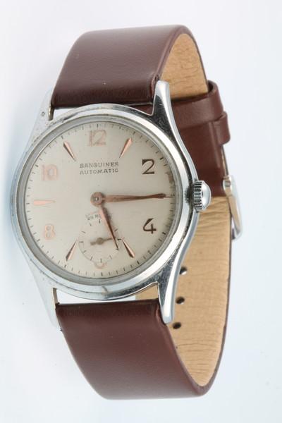 A gentleman's chromium cased Sanguines automatic wristwatch