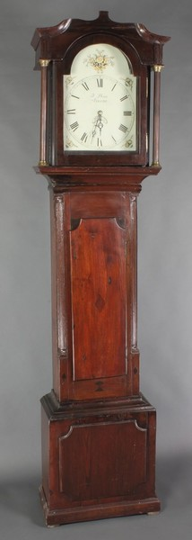 An 18th Century 30 hour longcase clock with plate movement