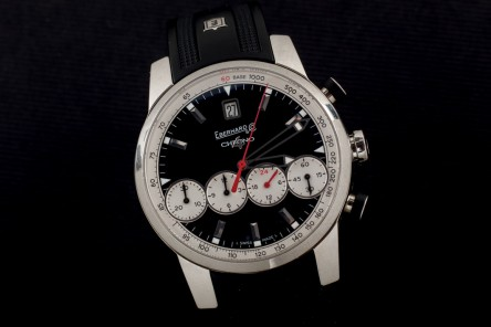 Gentlemen watch Eberhard & Co. brand, model Chrono 4 Grande Taille, made of steel
