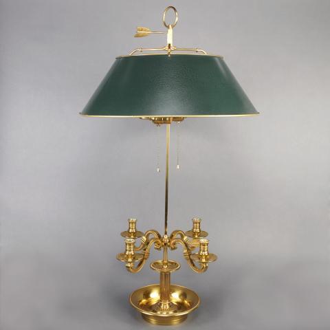 Empire Style Brass Bouillotte Lamp