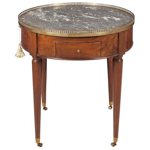 Louis XVI Style Brass Mounted Mahogany Bouillotte Table