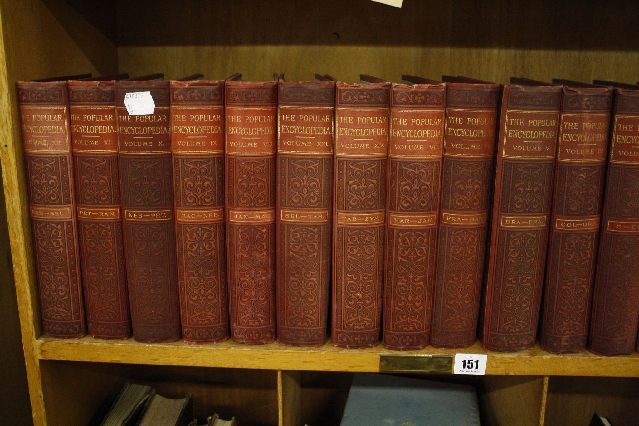 A quantity of assorted books to include 'The popular Encyclopedia' etc