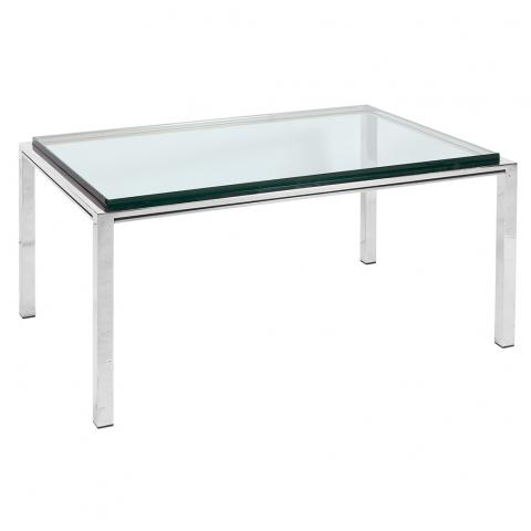 Chrome and Glass Low Table