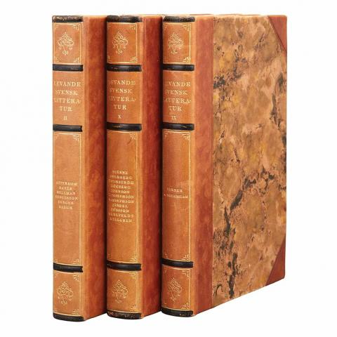 [BINDINGS - SWEDISH] Group of approximately one hundred volumes