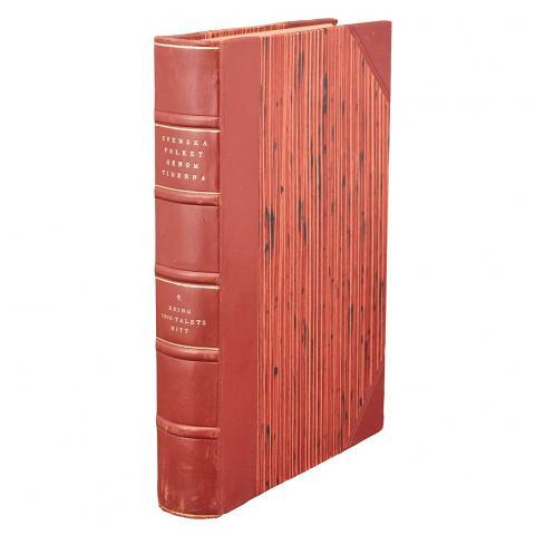 [BINDINGS - SWEDISH] Group of approximately twenty large volumes