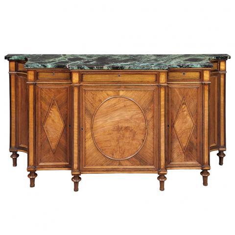 George III Rosewood and Satinwood Side Cabinet