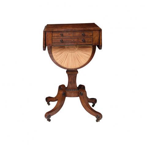 Regency Elmwood Drop-Leaf Work Table