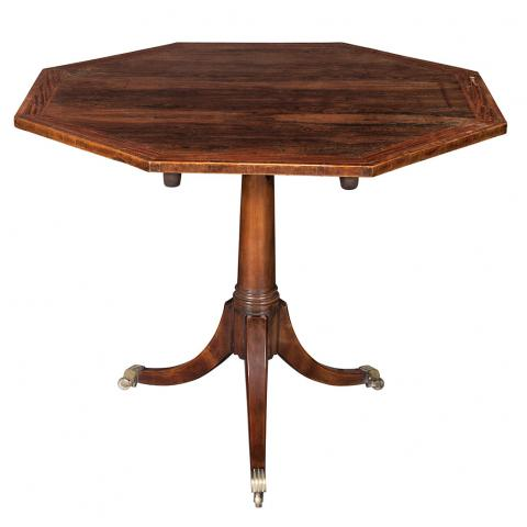 Regency Mahogany and Rosewood Center Table