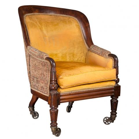 Victorian Rosewood Bergere
