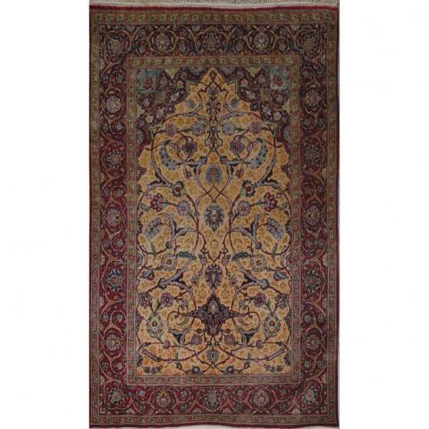Silk Kashan Prayer Rug