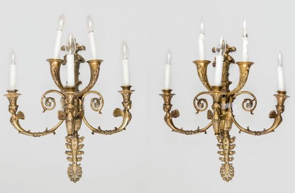 Pair of bronze sconces, pps. S. XX