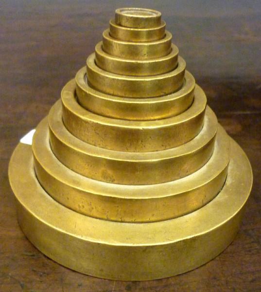 Game brass weights 100 Bullion Tolas 1/2 Bl