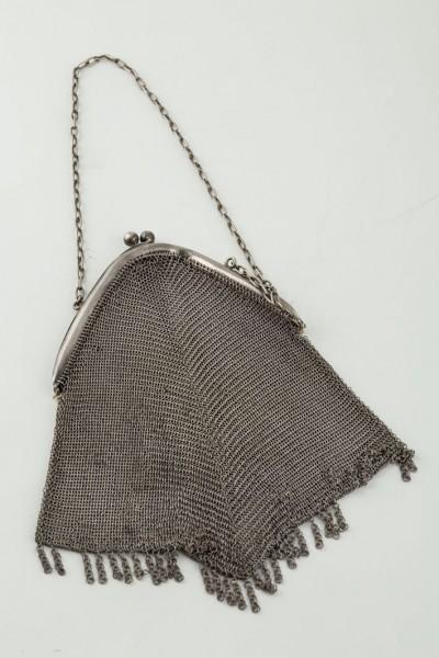 Doublé evening bag silver mesh