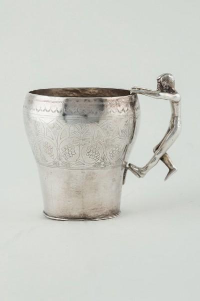 Colonial silver jug