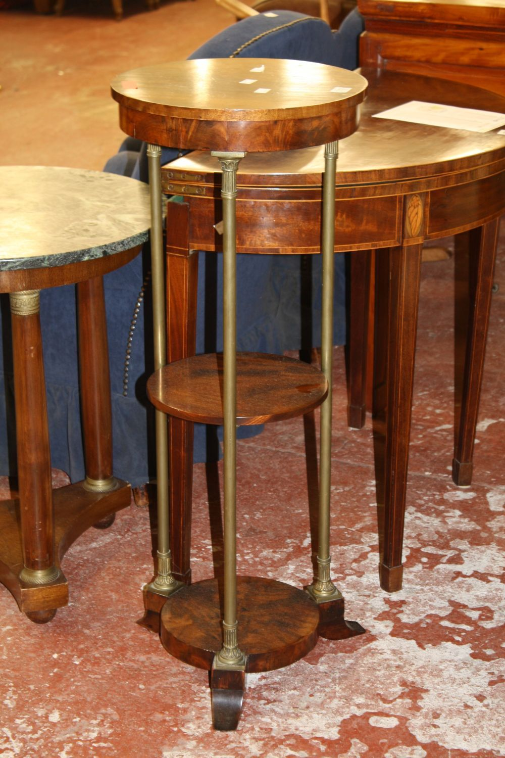 A French occasional table with three tiers
