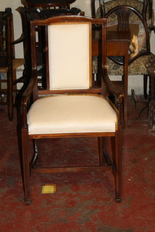 An Edwardian armchair