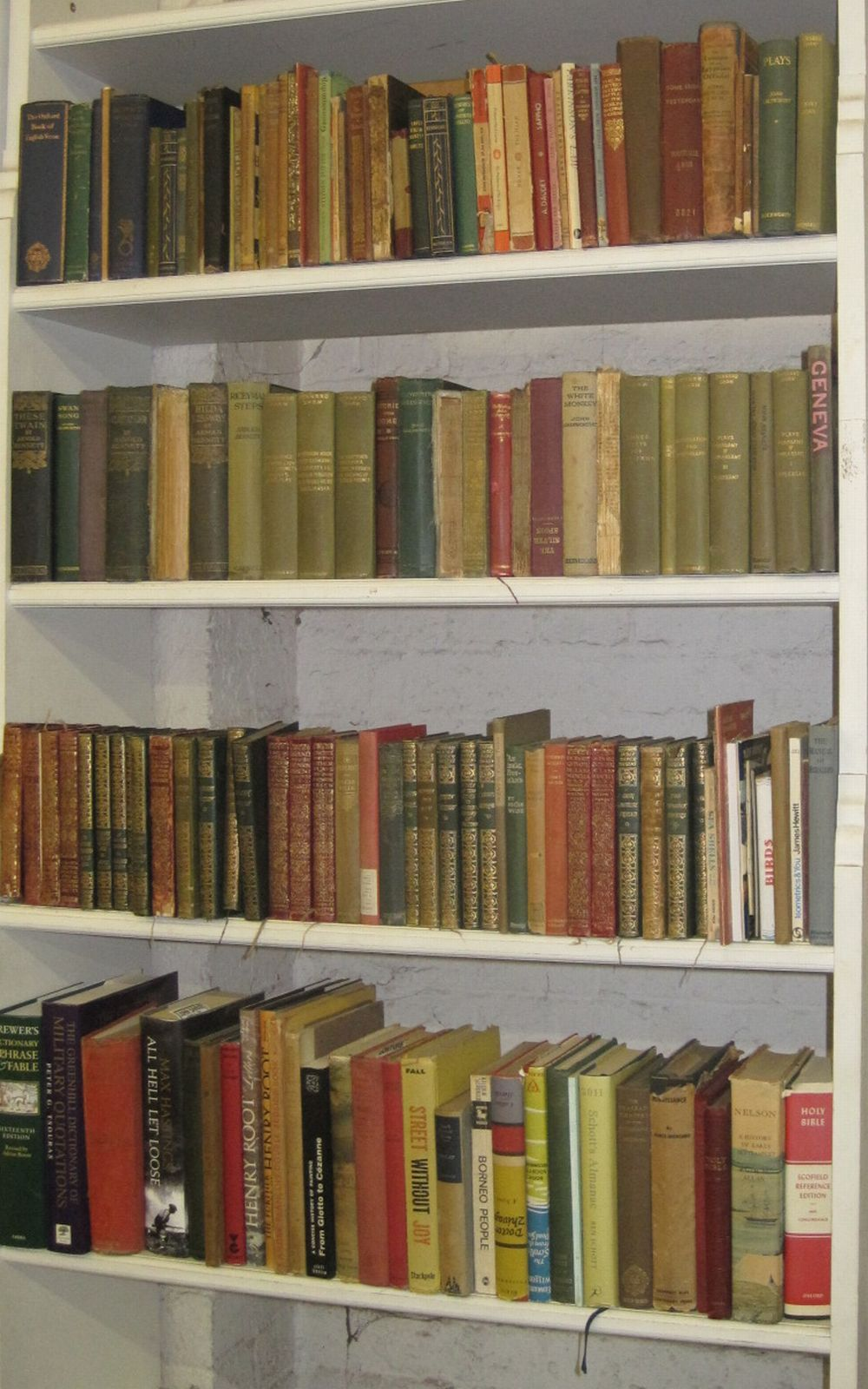 BOOKS Sixteen shelves to include literature, art and poetry, Charles Dickens