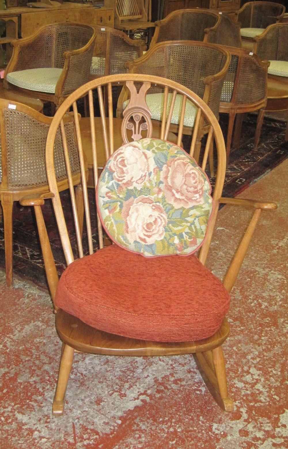 An Ercol Windsor rocking chair