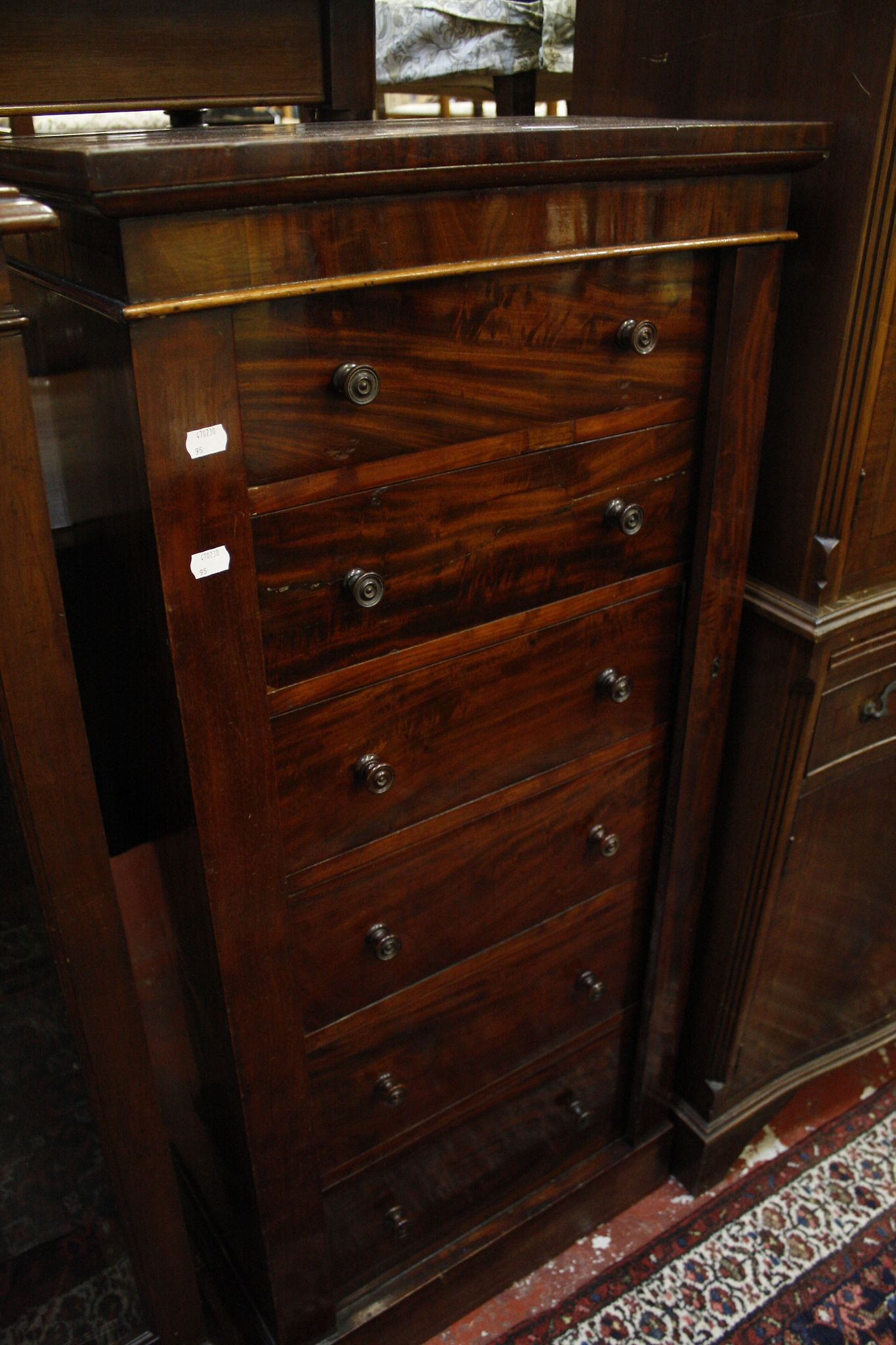 A Victorian mahogany Wellington chest