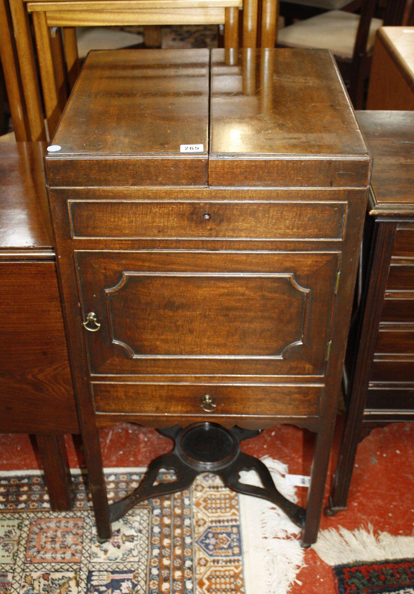 A Regency mahogany enclosed washstand