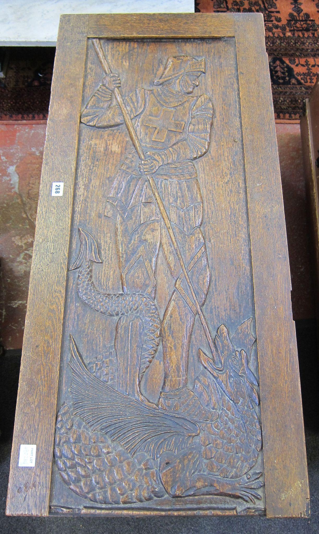An oak 18th Century style coffer