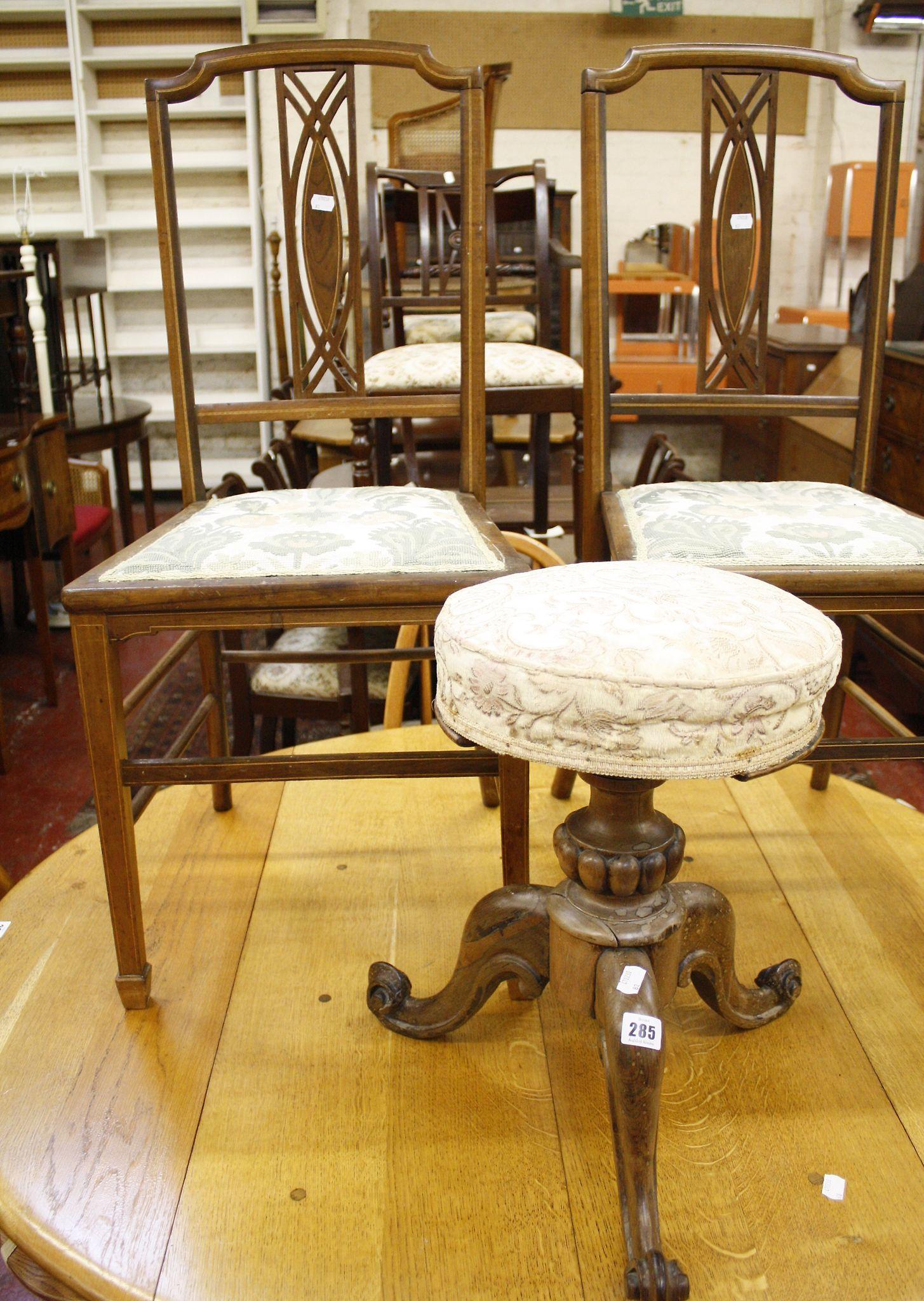 A Victorian circular stool
