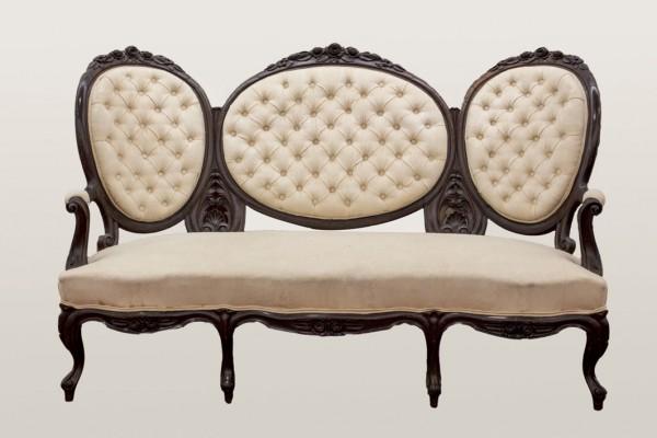 Isabelino sofa. S. XIX